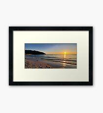 Sunset on Old Silver Beach Framed Print