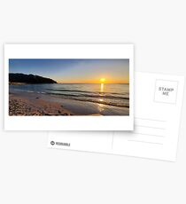 Sunset on Old Silver Beach Postcards
