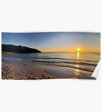 Sunset on Old Silver Beach Poster