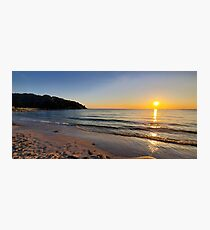 Sunset on Old Silver Beach Photographic Print