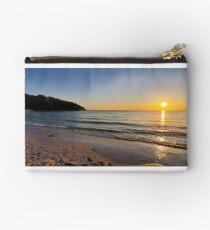 Sunset on Old Silver Beach Zipper Pouch