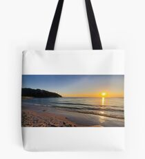 Sunset on Old Silver Beach Tote Bag