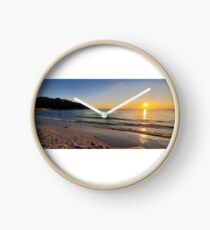 Sunset on Old Silver Beach Clock