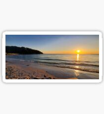 Sunset on Old Silver Beach Glossy Sticker