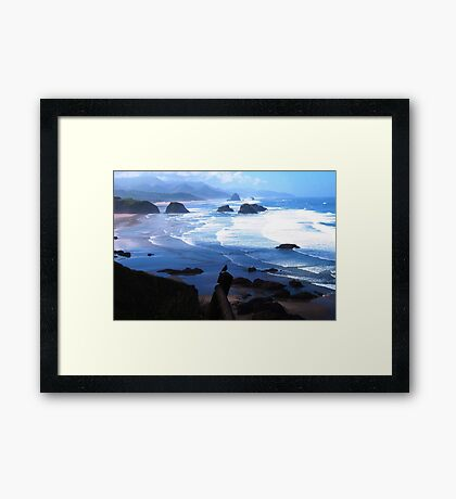 View from Ecola Framed Print