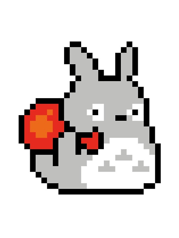 Totoro Pixel Art Stickers By Toty