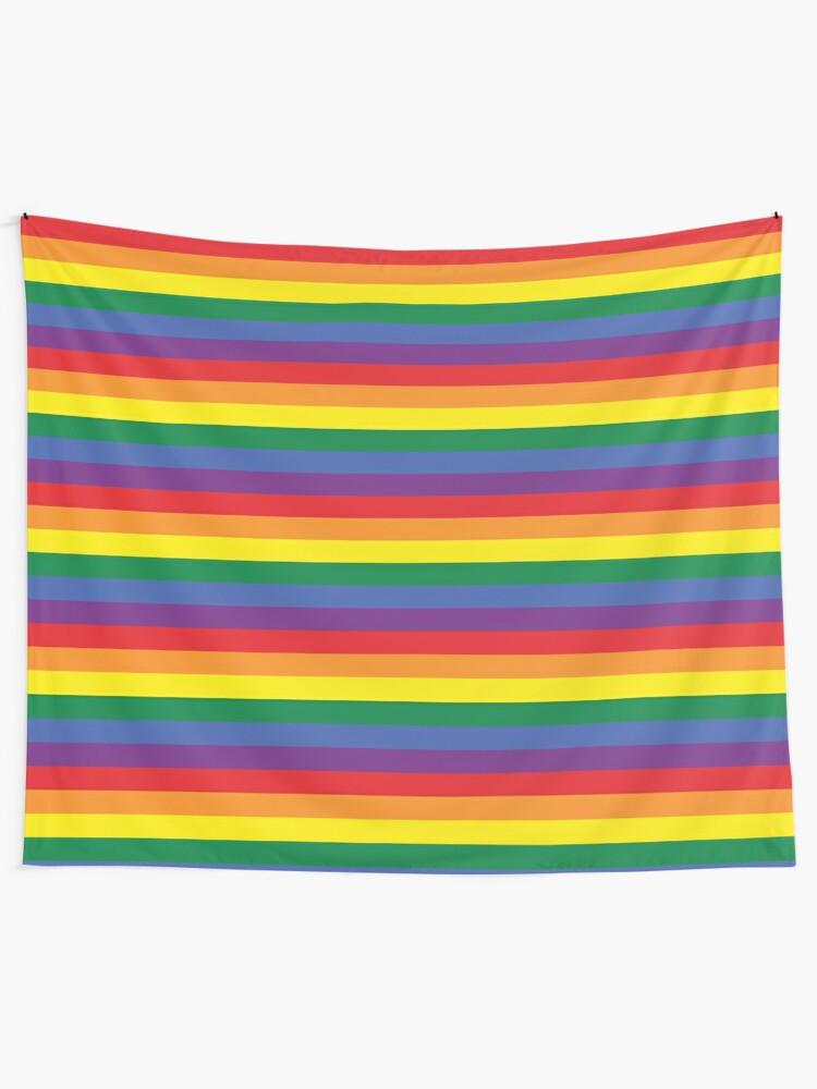 Alternate view of rainbow Tapestry