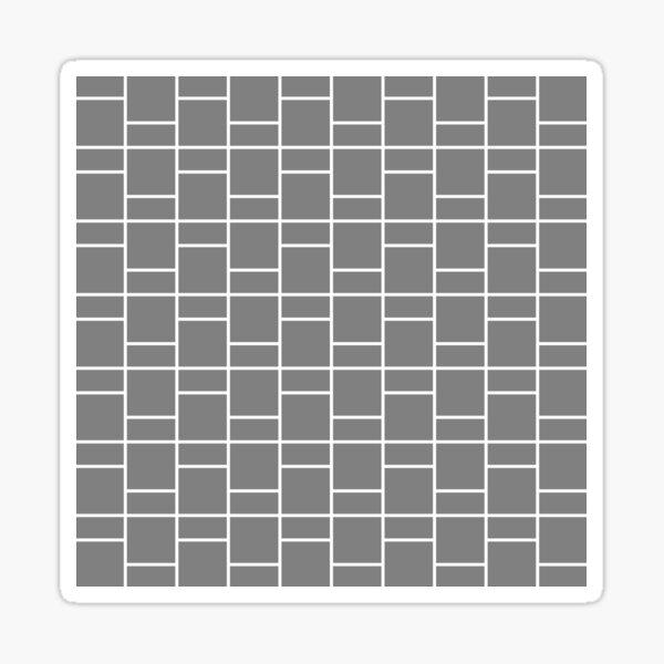 Teturati (Gray/White) Sticker