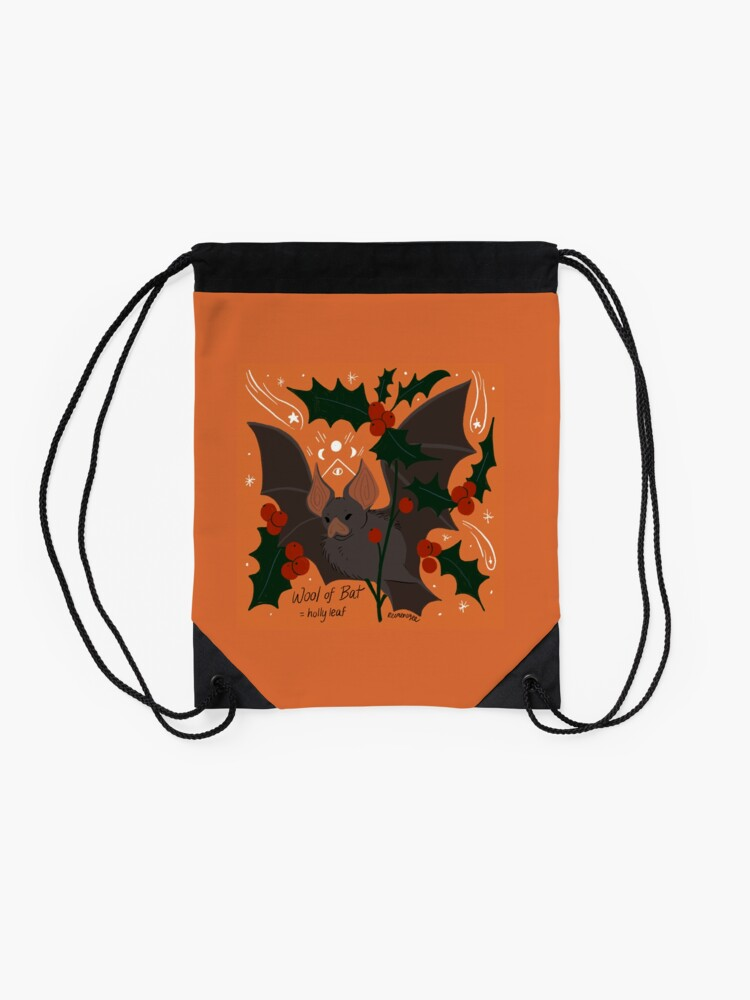 Alternate view of Witch's Brew: Wool of Bat Drawstring Bag