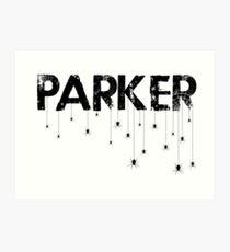Parker Spider - Black Art Print