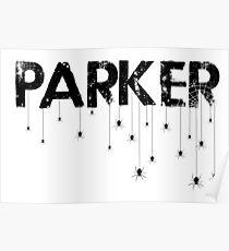 Parker Spider - Black Poster