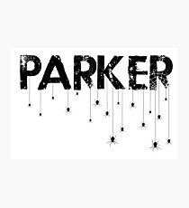 Parker Spider - Black Photographic Print