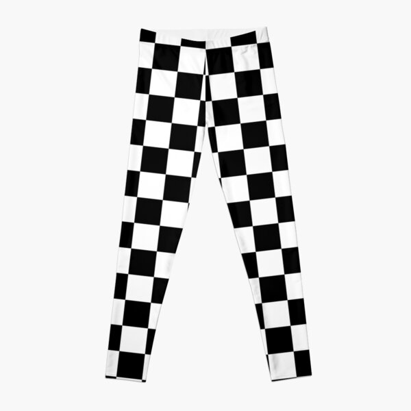Black and white checkered Leggings