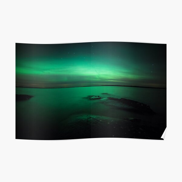 Mystic northern lights glow Poster