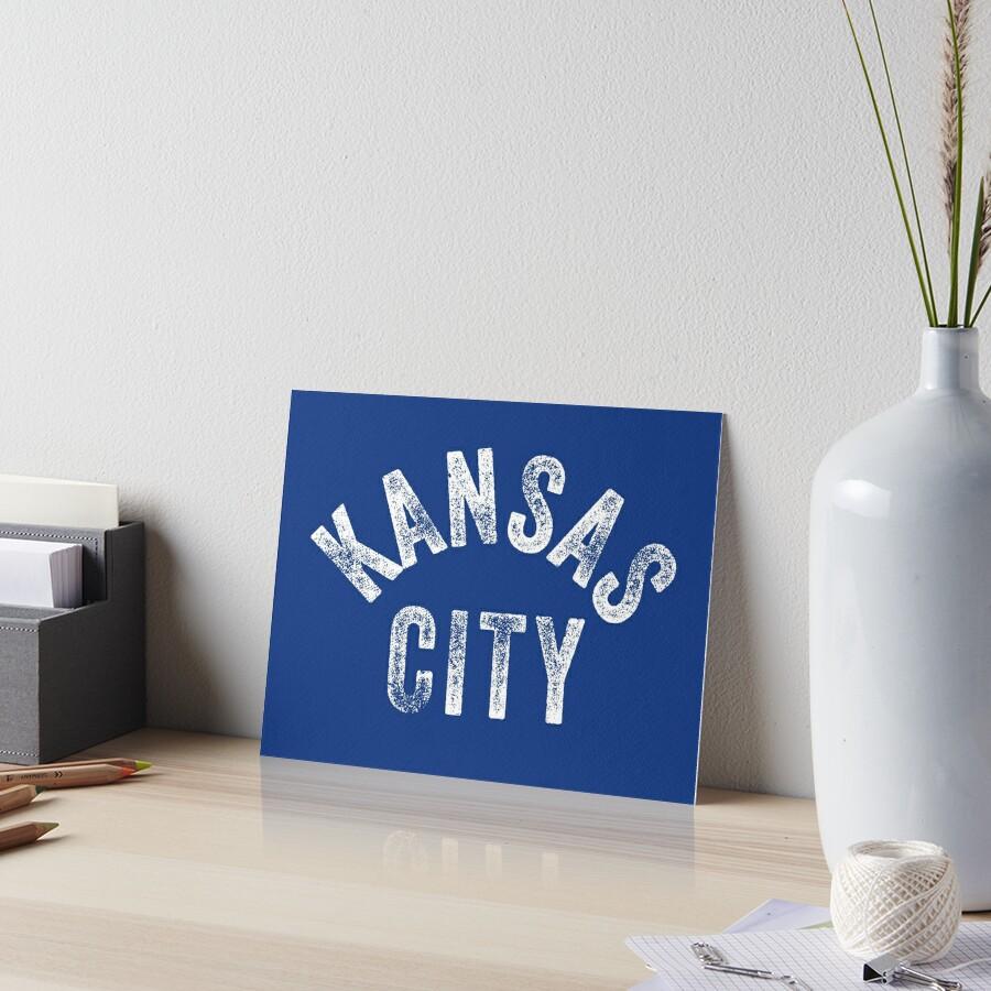KC Royal Blue Classic Kansas City Vintage Local Kc Baseball Fan Gear Kansas city KC Face mask Kansas City facemask Art Board Print
