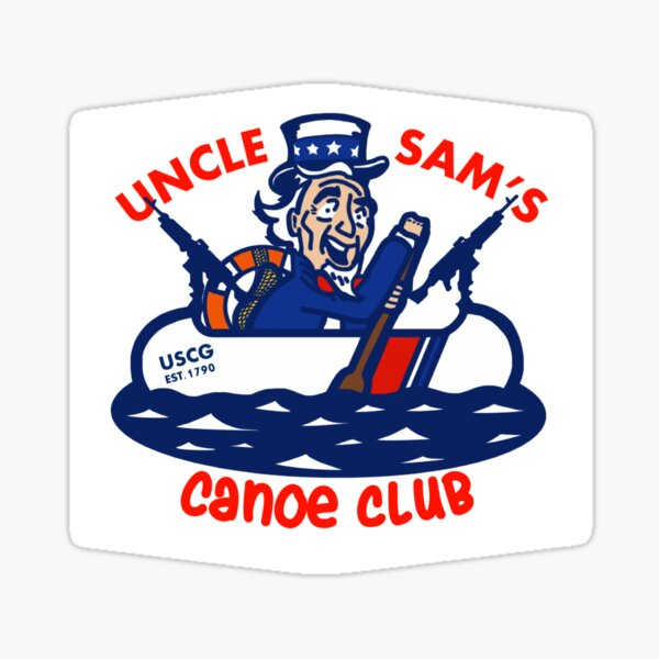 Uncle Sam's Canoe Club - Full Logo Sticker