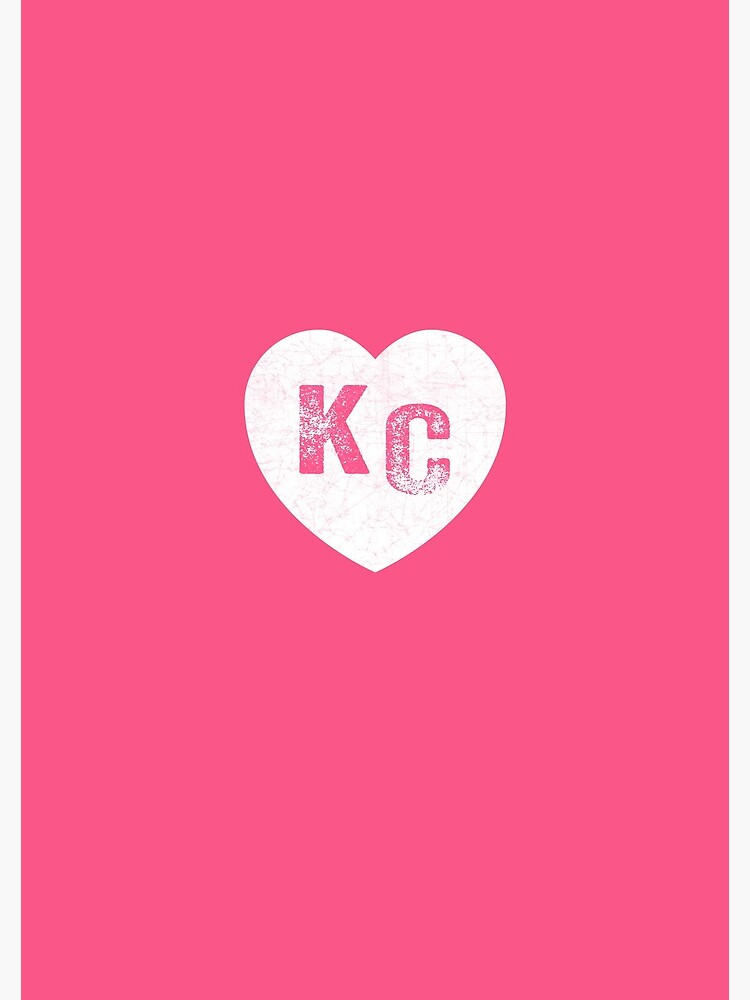 Pink Kansas City KC Heart Collection I Love Kc Hearts KC Face mask Kansas City facemask by kcfanshop