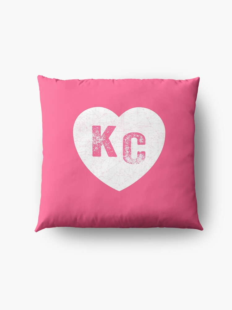 Alternate view of Pink Kansas City KC Heart Collection I Love Kc Hearts KC Face mask Kansas City facemask Floor Pillow