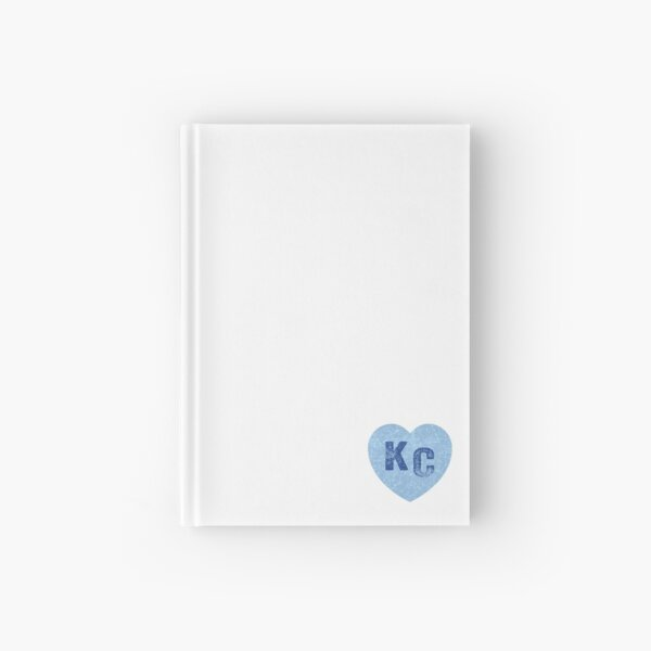 Baby Blue KC Heart Kansas City Hearts I Love Kc heart Kansas city KC Face mask Kansas City facemask Hardcover Journal