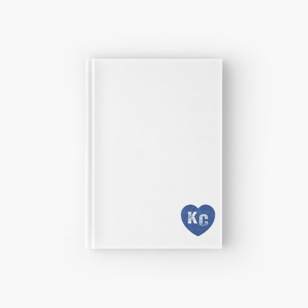 Royal Blue KC Blue Heart Kansas City Hearts I Love Kc heart Kansas city KC Face mask Kansas City facemask Hardcover Journal