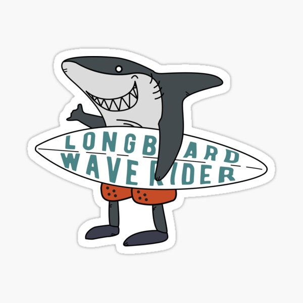 Surf Sticker Shark Shaka Sign Sticker