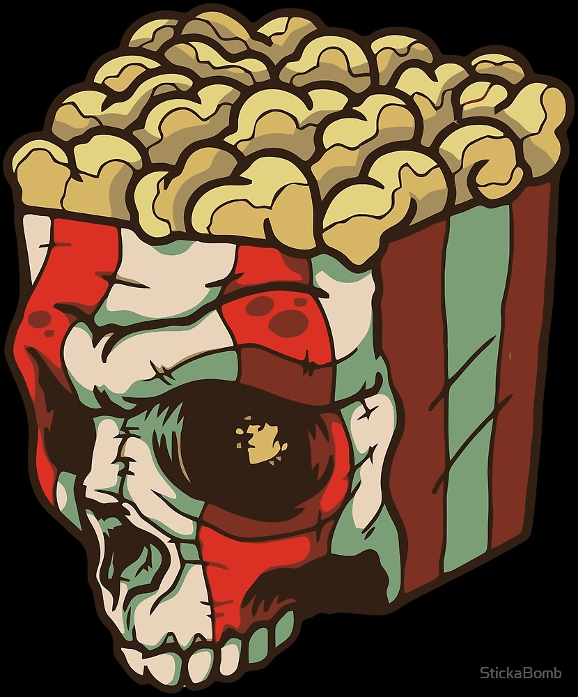 Skull Brain Popcorn by StickaBomb