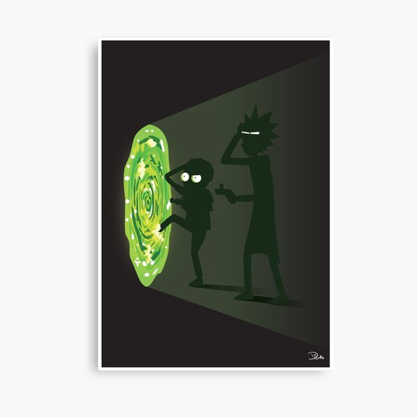 Rick and Morty - Portal Travel Canvas Print