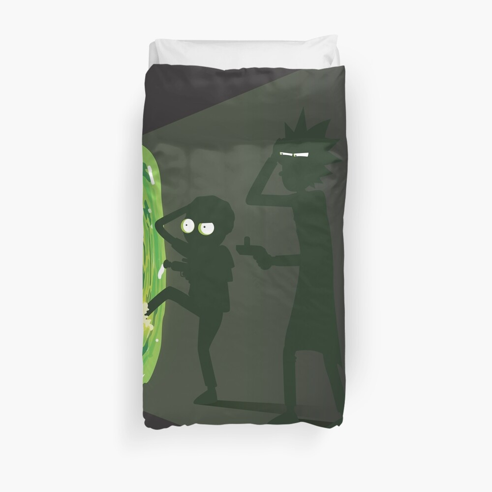 Rick and Morty - Portal Travel Duvet Cover