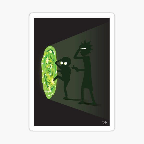 Rick and Morty - Portal Travel Sticker