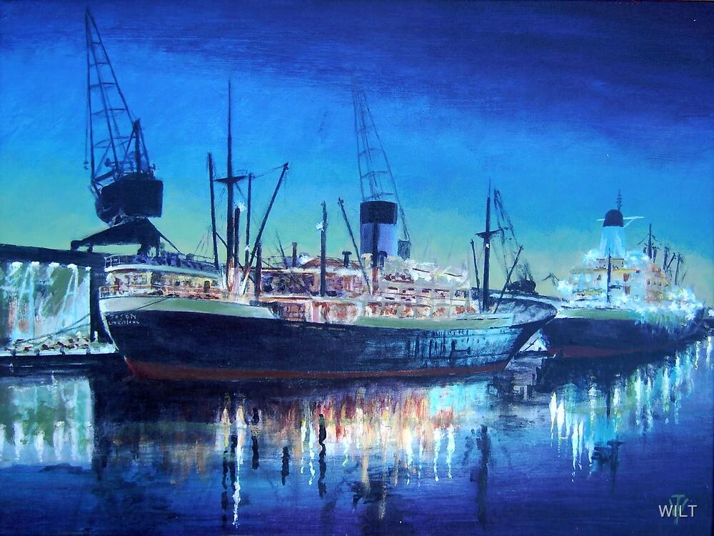 Night dockscene by WILT