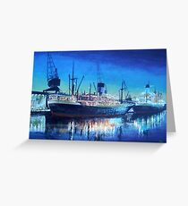 Night dockscene Greeting Card
