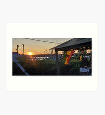 Sunset at Pilot House Restaurant & Lounge Art Print