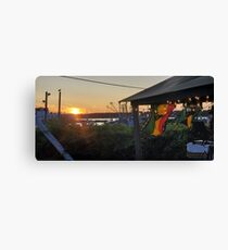 Sunset at Pilot House Restaurant & Lounge Canvas Print