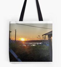 Sunset at Pilot House Restaurant & Lounge Tote Bag