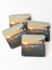 Sunset at Pilot House Restaurant & Lounge Coasters