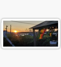 Sunset at Pilot House Restaurant & Lounge Glossy Sticker