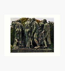 The Burghers of Calais, France Art Print