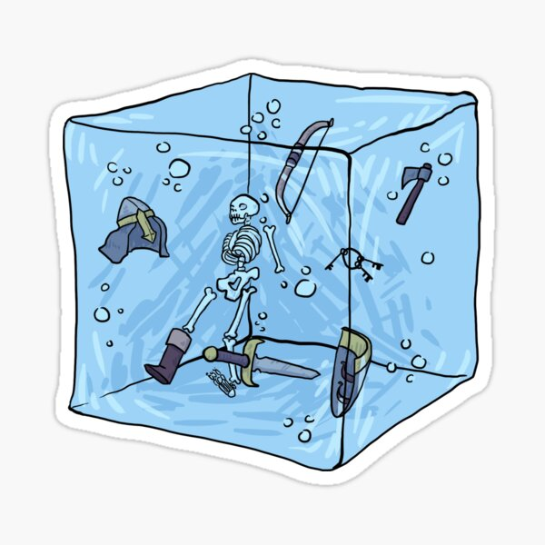 D&D Gelatinous Cube Sticker