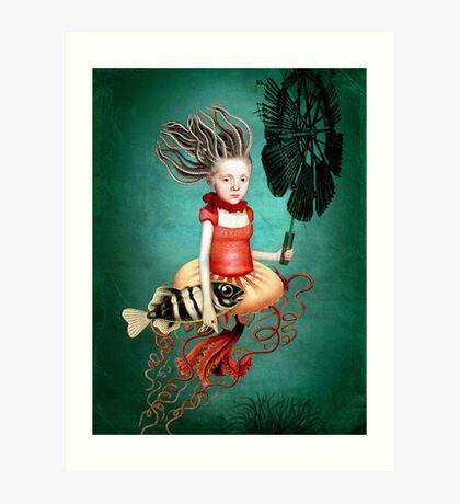 Die kleine Meerhexe Art Print