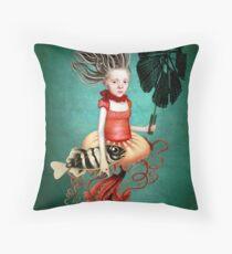Die kleine Meerhexe Throw Pillow
