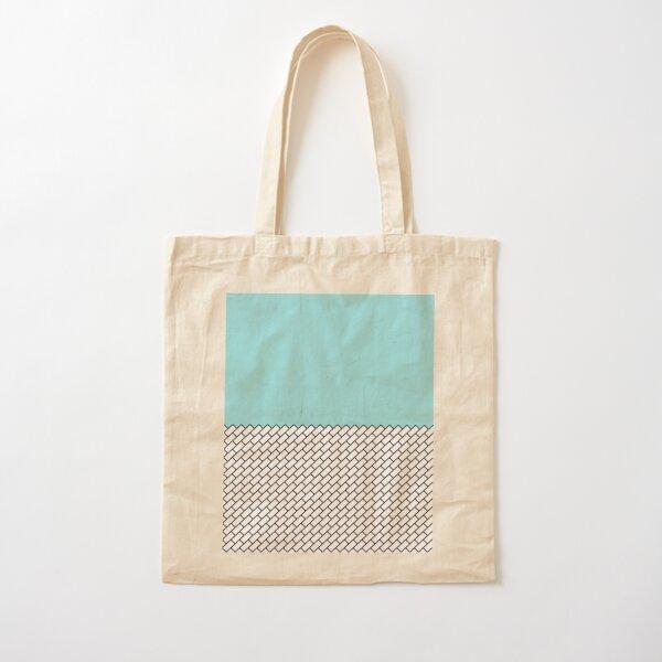opeka (aqua) Cotton Tote Bag
