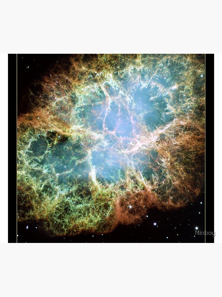 NASA Hubble Space Telescope Poster - The Crab Nebula by Ninboy