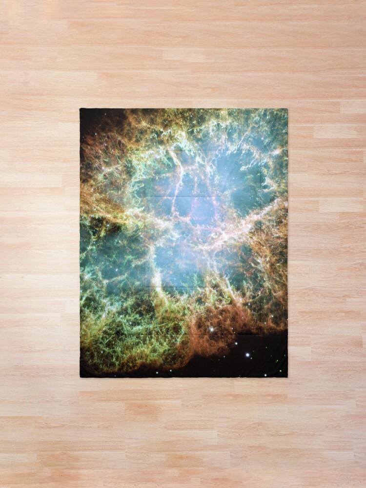 Alternate view of NASA Hubble Space Telescope Poster - The Crab Nebula Comforter