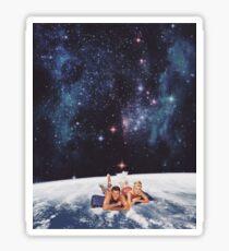 Swimming under the Stars Sticker