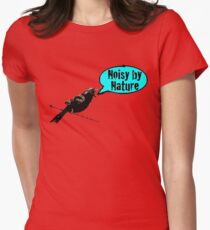 NoisyByNature Blue Womens Fitted T-Shirt
