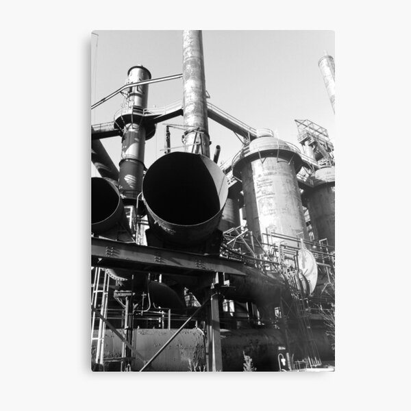 Steel Stacks Bethlehem Metal Print