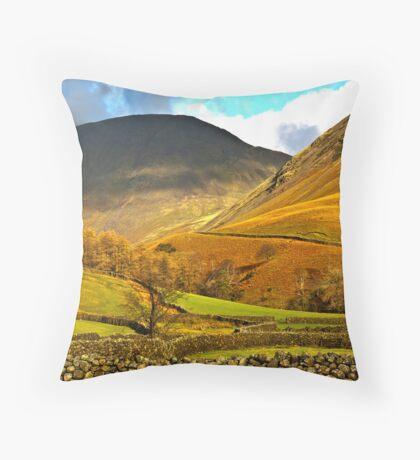 Autumn in Wasdale - Lake District Throw Pillow