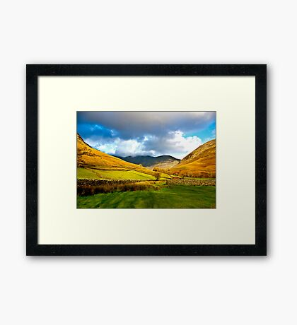 The Path through the Valley Framed Print