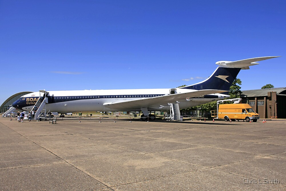 1960s BOAC Vickers VC10 airliner  by Chris L Smith
