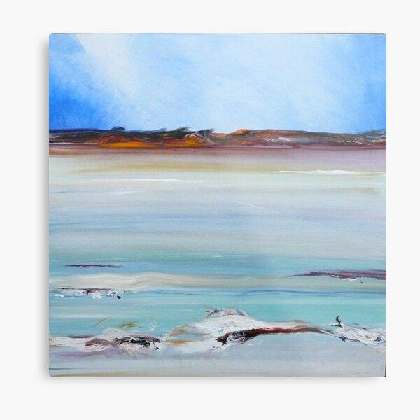 Still Calm- The salt lakes of Lake King Metal Print